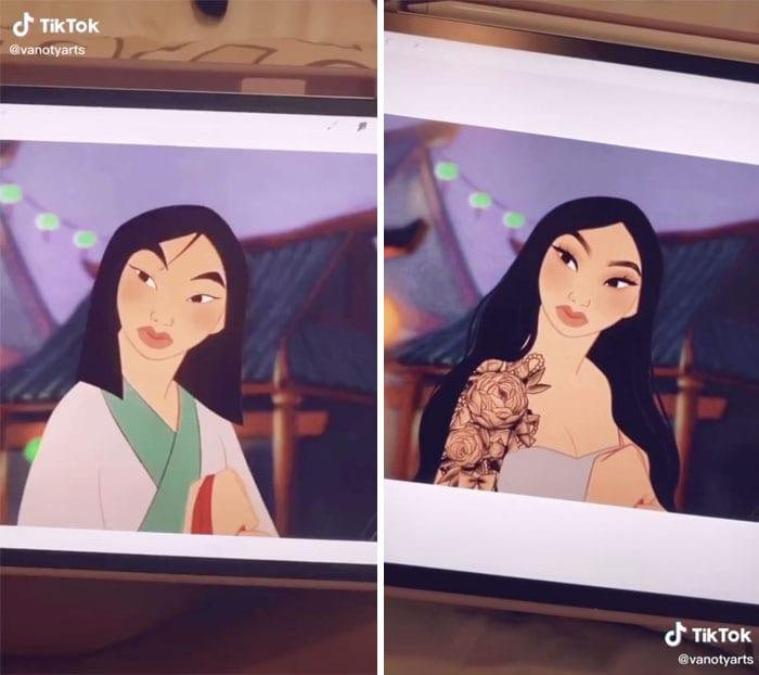 Artist Updates And Revamp Disney Princesses As Modern Women