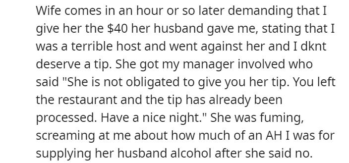 OP gets tip